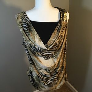 ⭐️ Fashion Bug Sleeveless Zebra Print Top